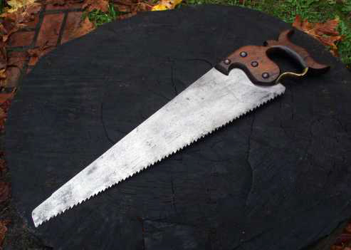 antique hand saw types. type 1b. c.1880. antique hand saw types
